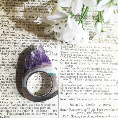 Amethyst Crystal Point - Power & Protection Ring Woman's Size