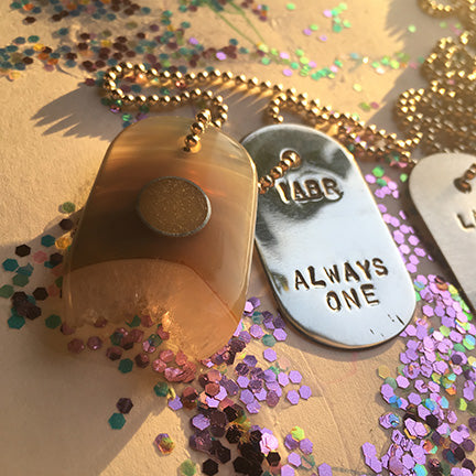 "Custom Keepsake Goddess Tag with DNA or Spell ""Window"""