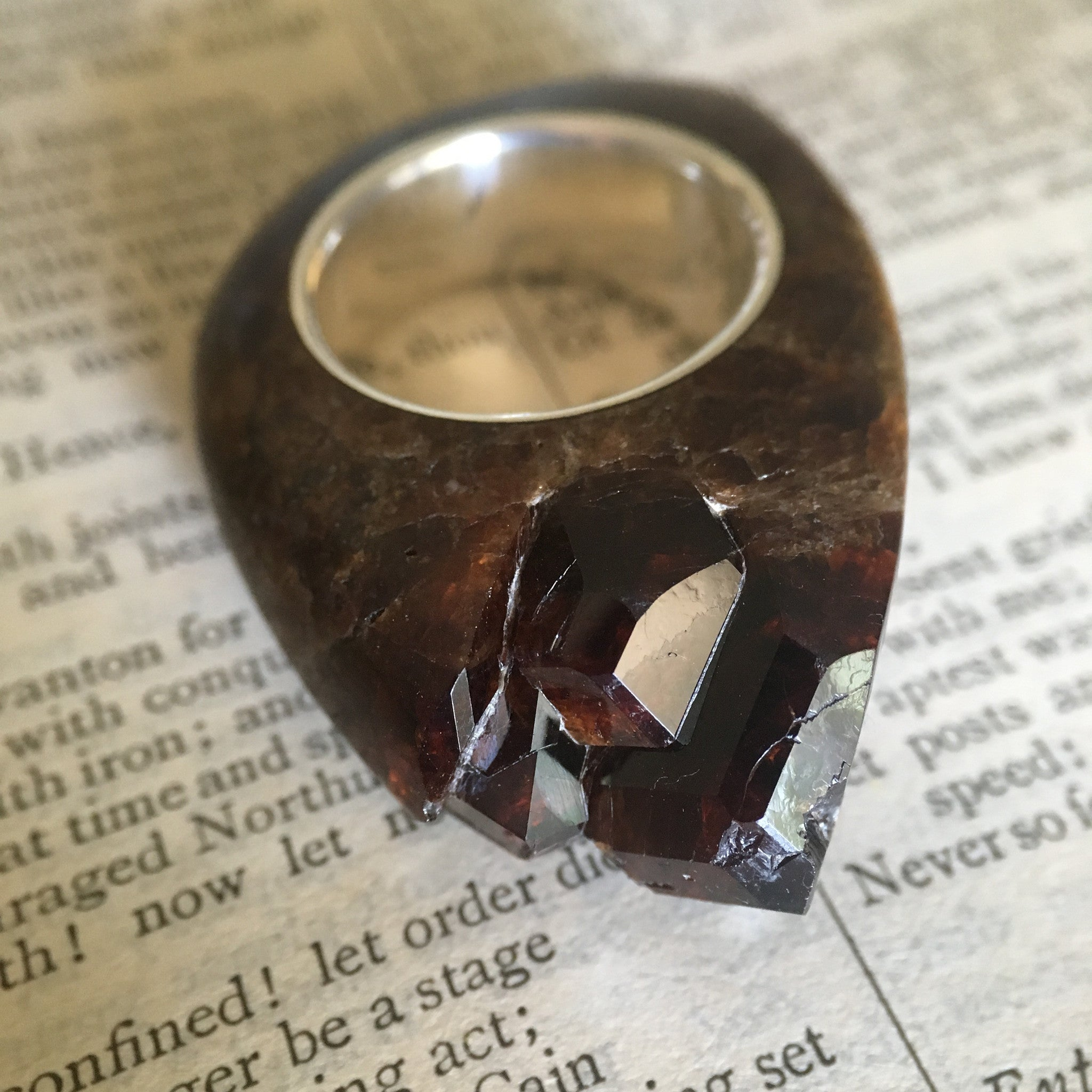 Garnet Crystal Point - Power & Protection Ring Size 6.5