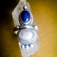 "Custom Keepsake and Stone Ring - Blood/Breastmilk/Ashes ""gem"" with choice of 5 stones"
