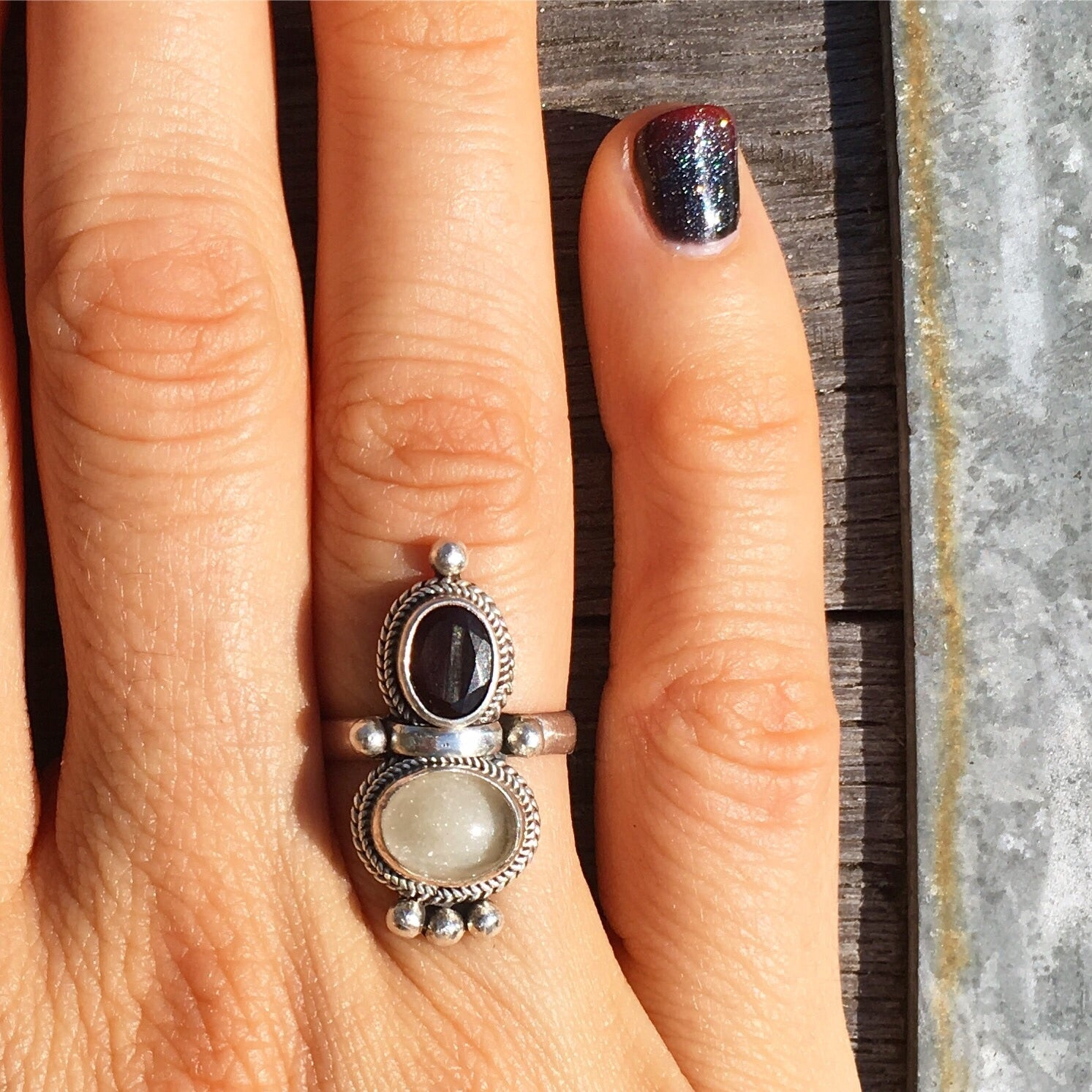 Custom Ashes Keepsake Goddess Ring - in Crystal and with choice of 5 stones