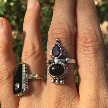 Custom MoonBlood™ Keepsake Goddess Ring - in Crystal and with choice of 5 stones