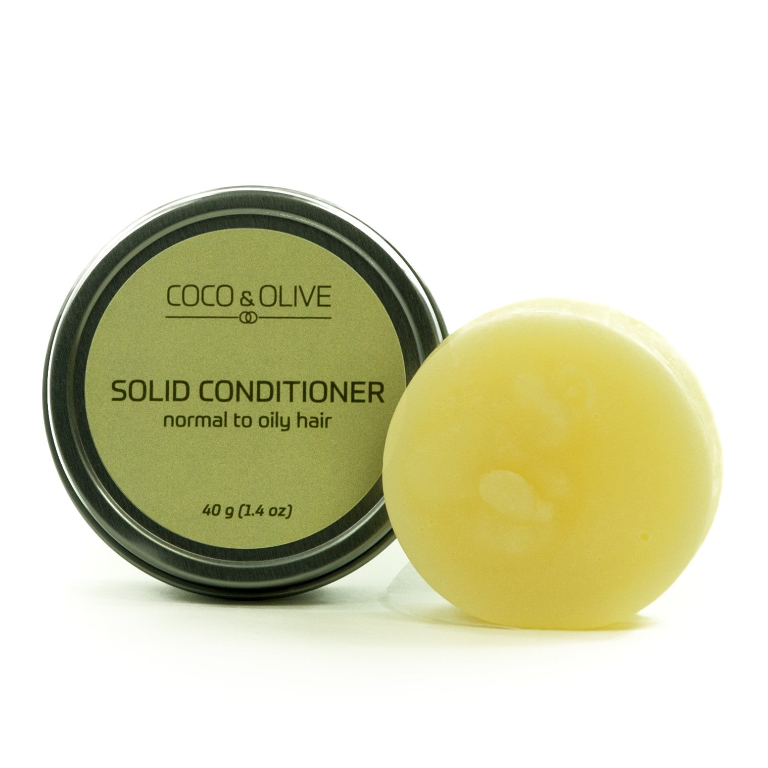 Coco & Olive Solid Conditioner Normal to Dry hair. This bar gives your hair enough moisture without leaving it limp and lifeless.