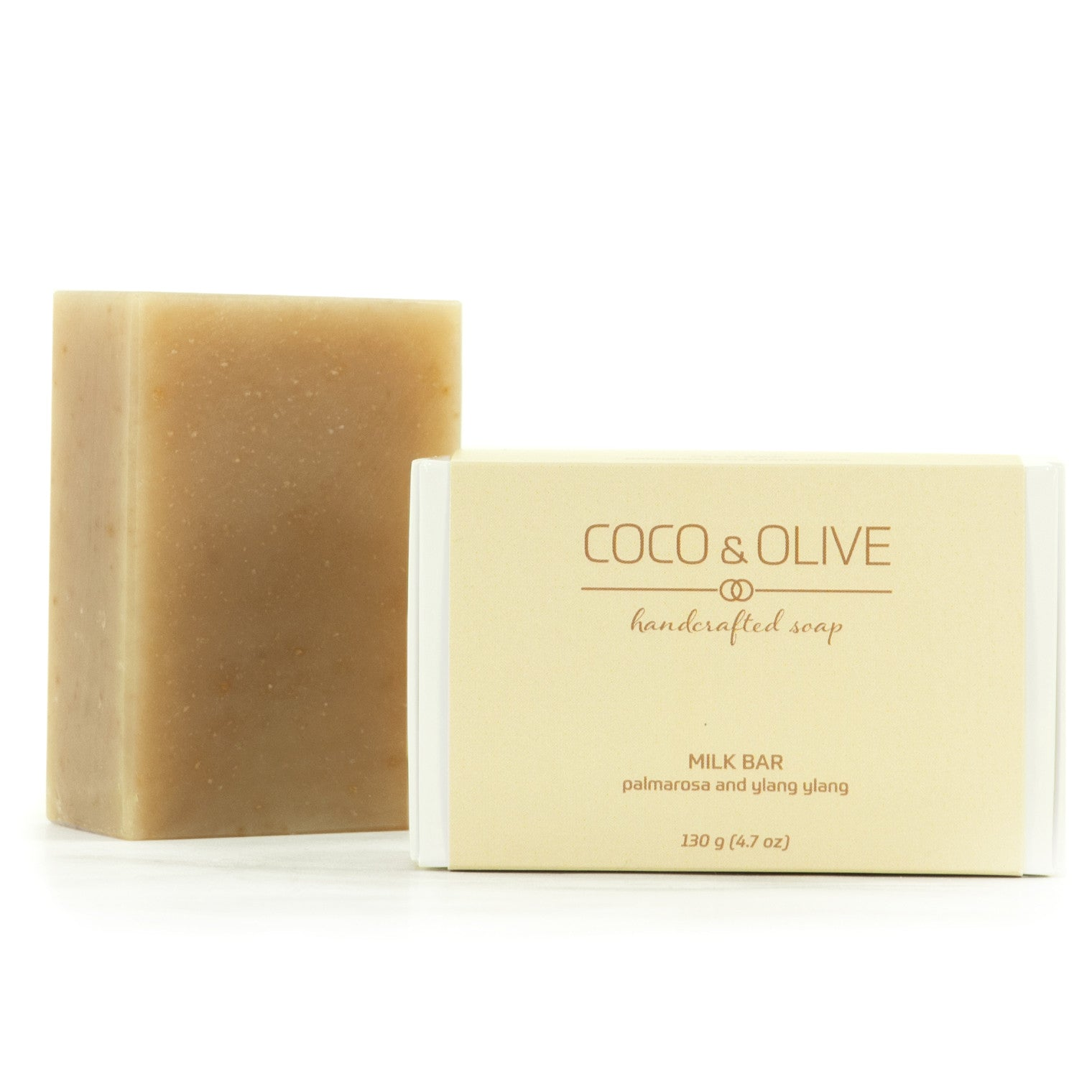 Coco & Olive Milk Bar handmade luxury soap has natural moisturizers that gently cleanse the most sensitive of skin.