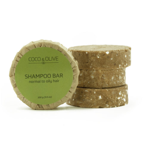 Coco & Olive Shampoo refills are packaged simply in recycled paper.