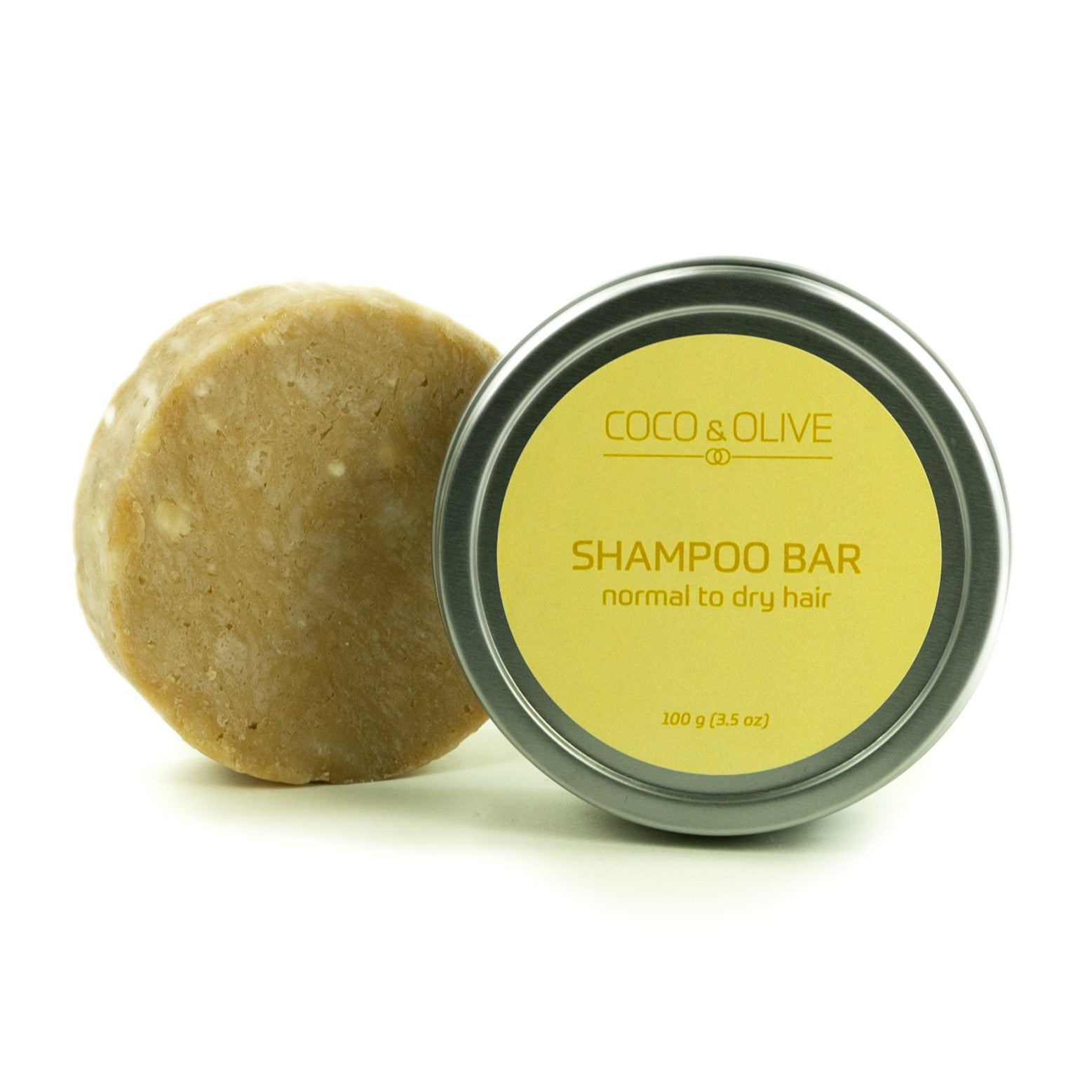 Coco & Olive Shampoo Bar Normal to Dry hair. Moisturize your hair leaving it healthy, soft, and manageable.