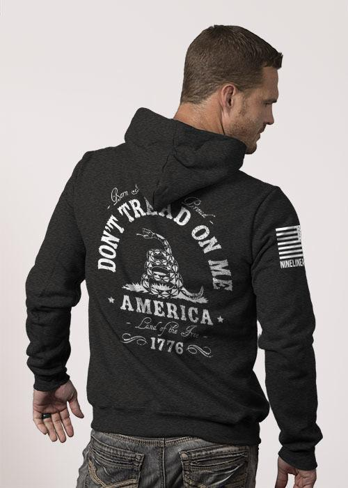 Don't Tread On Me Charcoal Hoodie