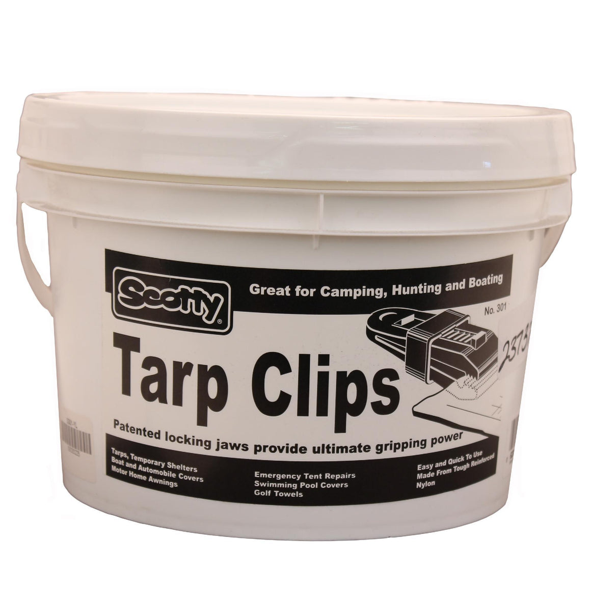 60 Tarp Clips - Yellow, Display Bucket
