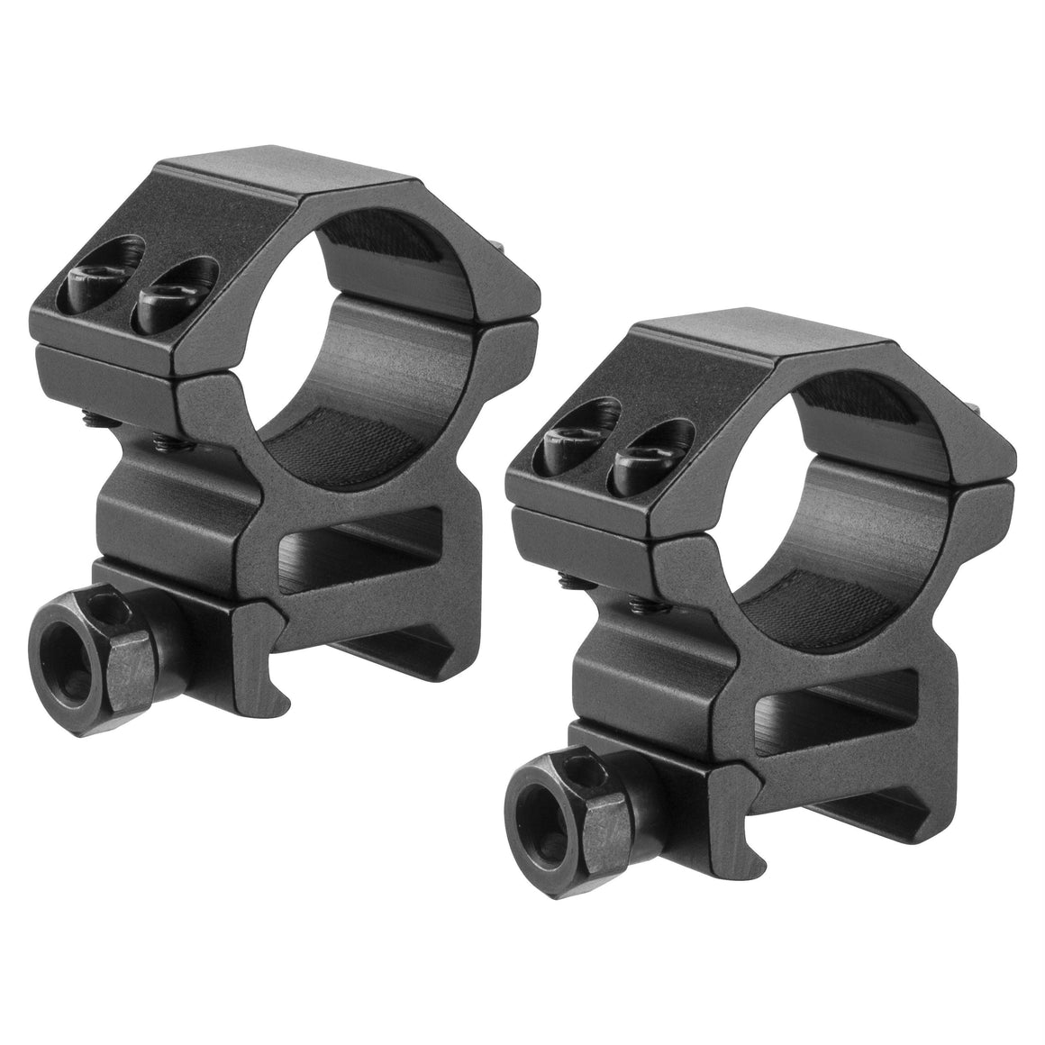 "Weaver Style HQ Rings - 1"" Medium Height, Matte Black"
