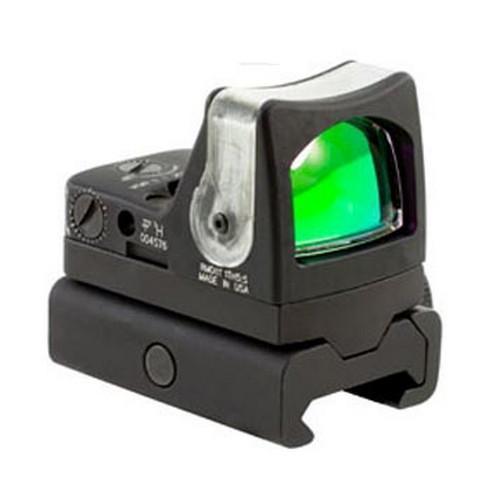RMR Dual-Illuminated Sight - 12.9 MOA Amber Triangle Reicle with RM34W Weaver Rail Mount, Black
