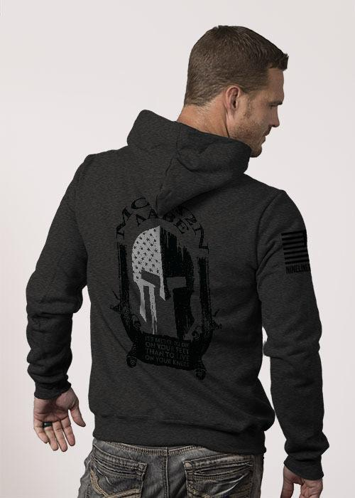 Molon Labe Spartan Hoodie in Charcoal