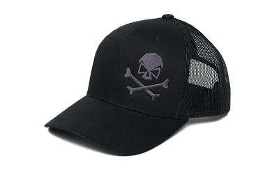 Phu Skull Trucker Hat Black-gry