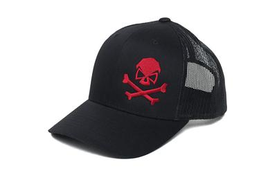 Phu Skull Trucker Hat Black-red