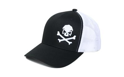 Phu Skull Trucker Hat Black-whi