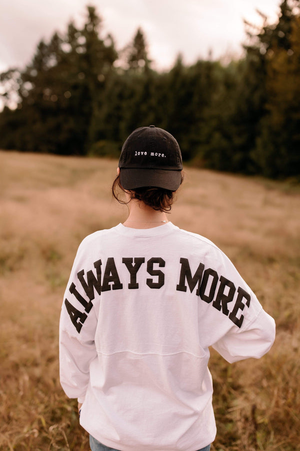 'Love More' Dad Hat - Black