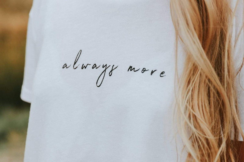 Always More Cropped Tee - White