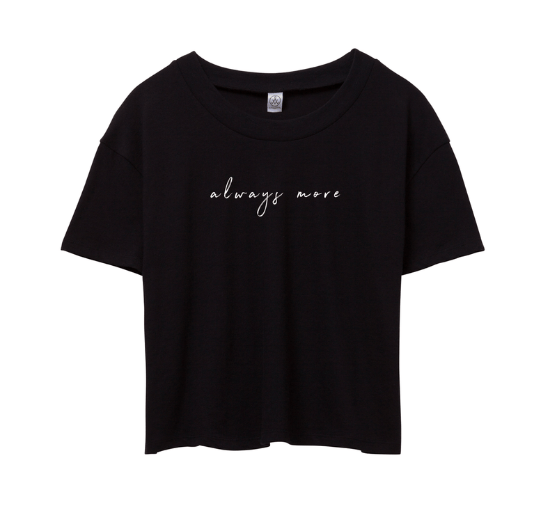 Always More Cropped Tee - Black