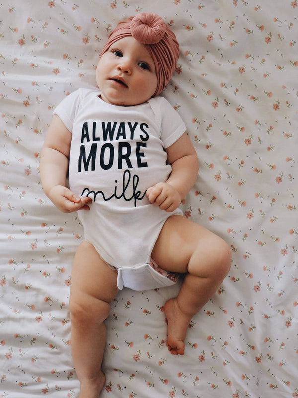 Always More Milk Onesie - White