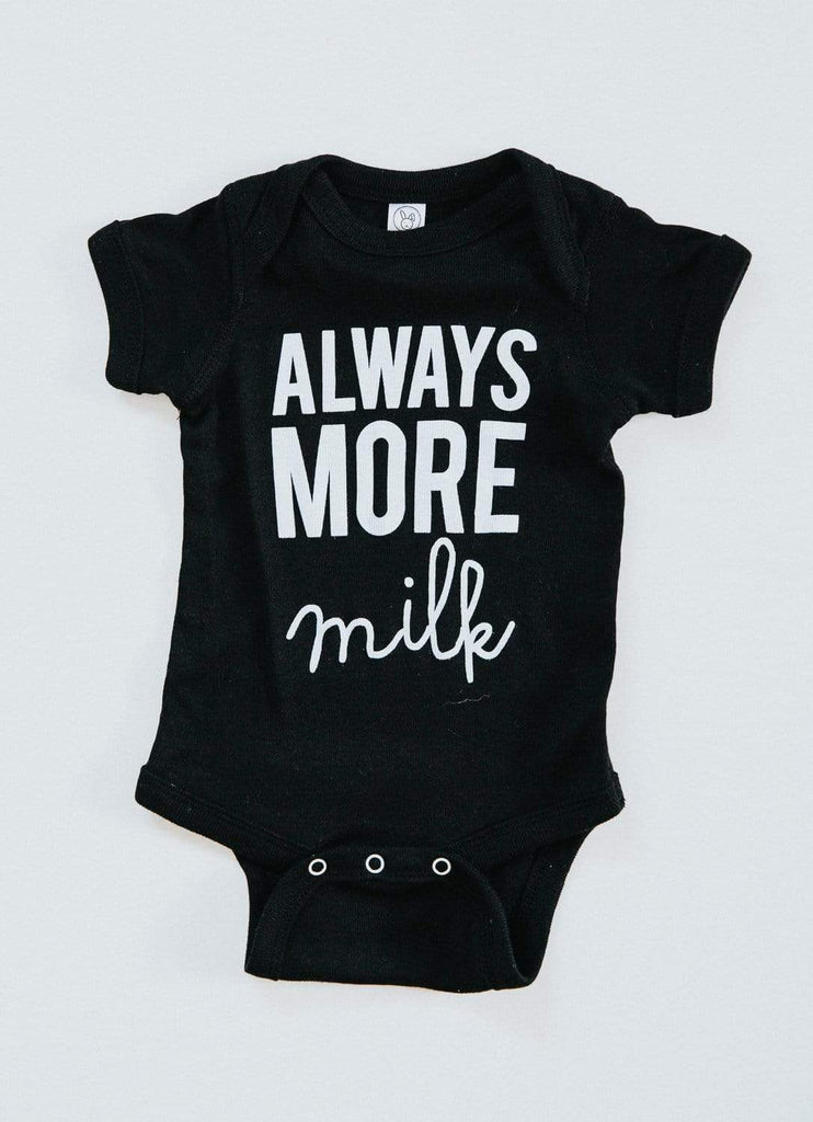Always More Milk Onesie - Black
