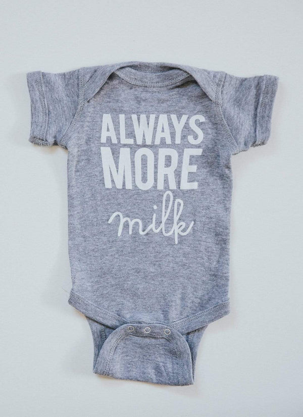 Always More Milk Onesie - Heather Grey