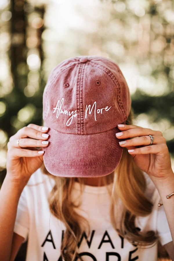 Always More Dad Hat - Maroon