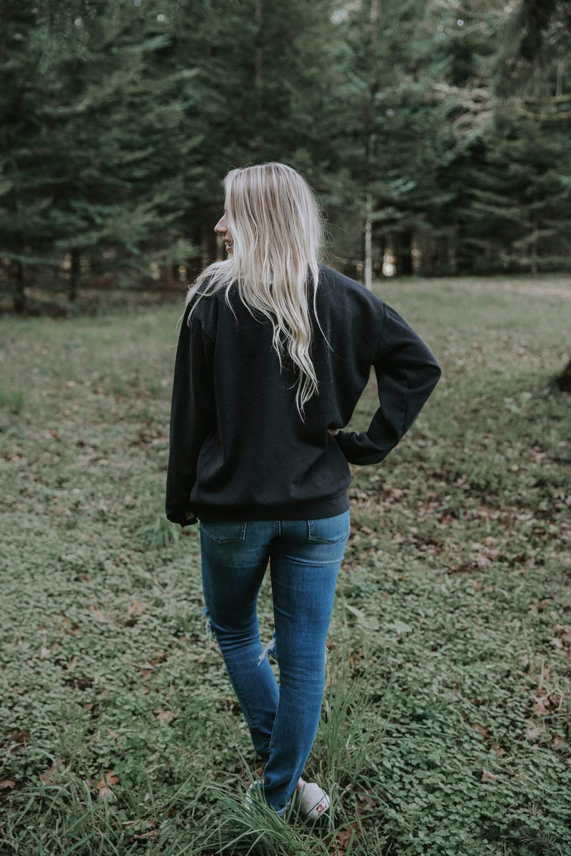 Always More Embroidered Sweatshirt - Black