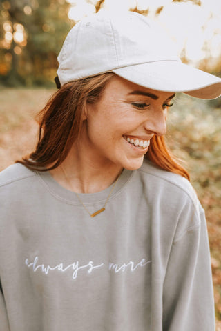 Always More Embroidered Sweatshirt - Grey