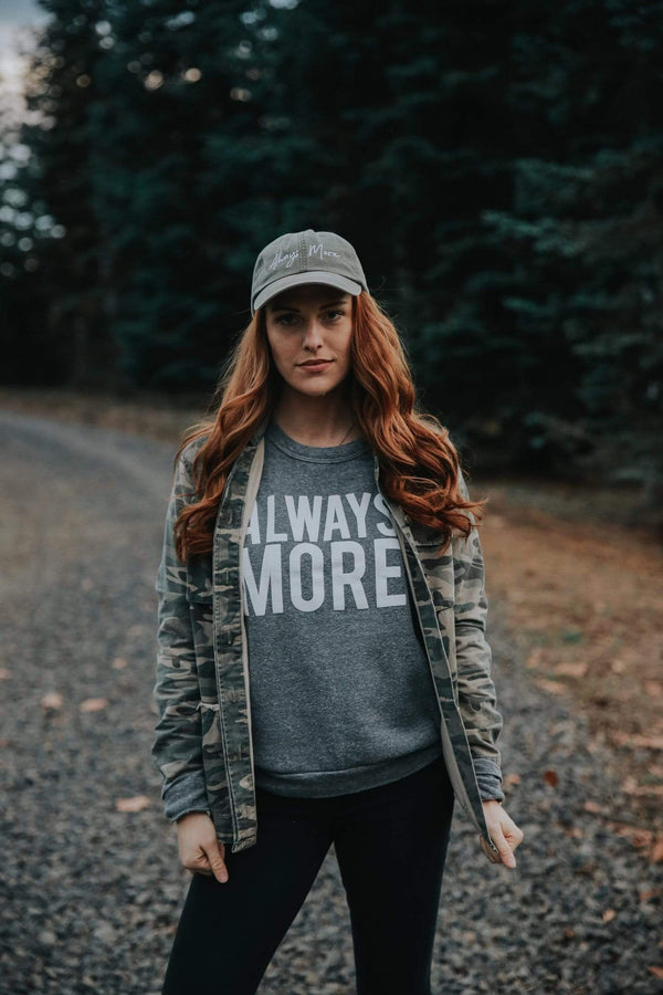 Always More Raglan Sweatshirt - Grey