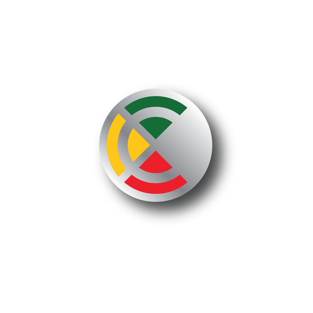 Chronixx Icon Logo Pin Chrome