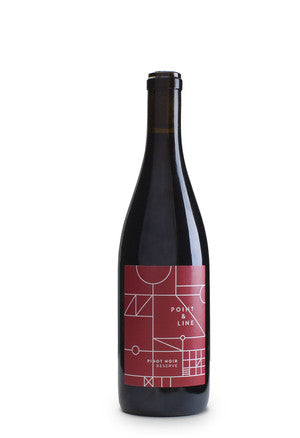 93pts Wine Enthusiast - Point & Line 2014 Reserve Pinot Noir