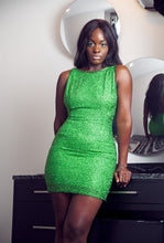 Vintage Green Beaded Dress