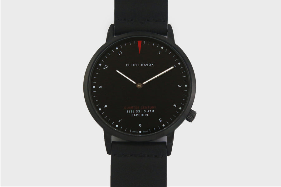 PHANTOM BLACK QUARTER CENTURY WATCH - 41MM