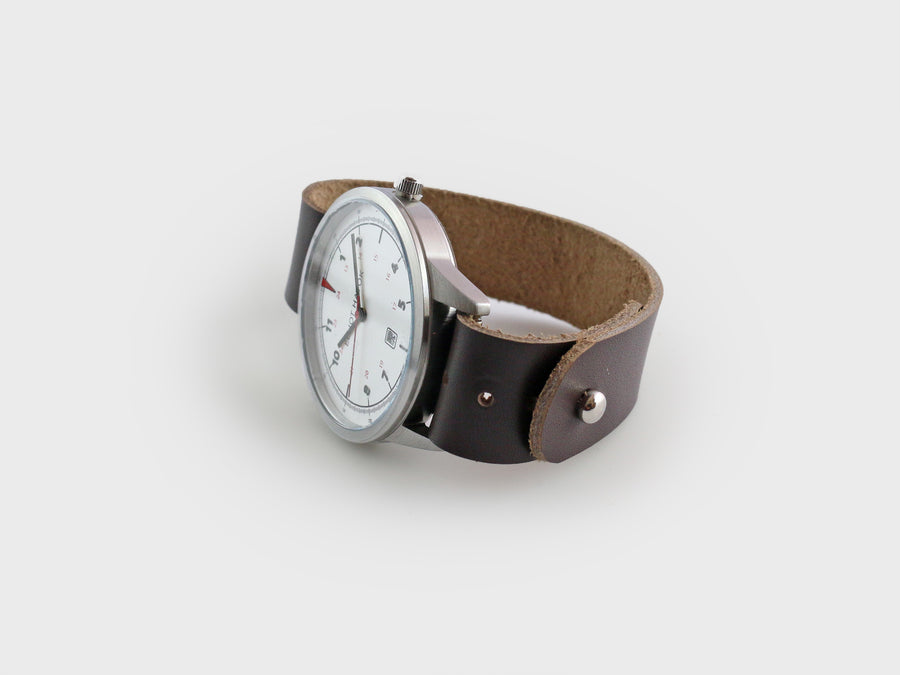 PREMIUM LEATHER BUTTON STUD WATCH STRAP