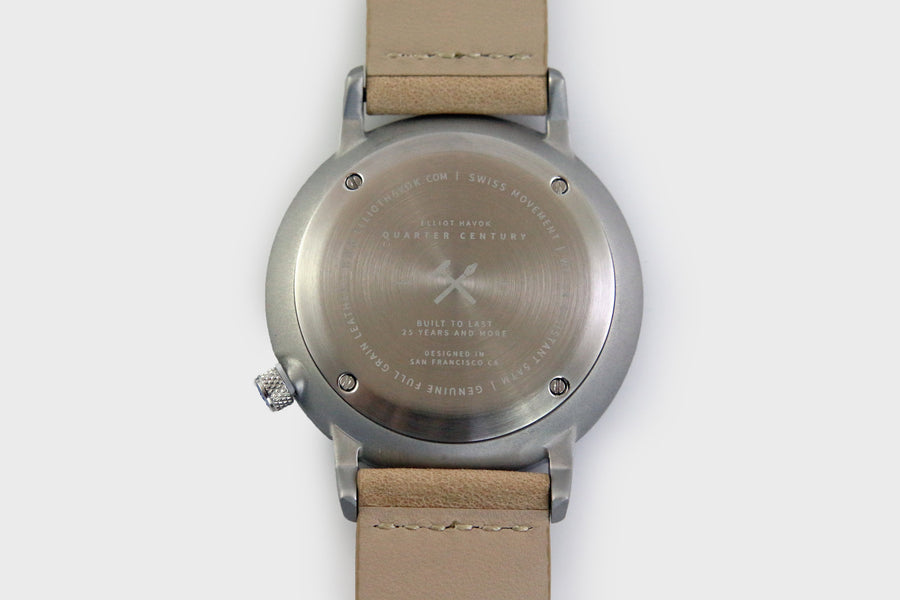 GRAPHITE STEEL QUARTER CENTURY WATCH - 41MM
