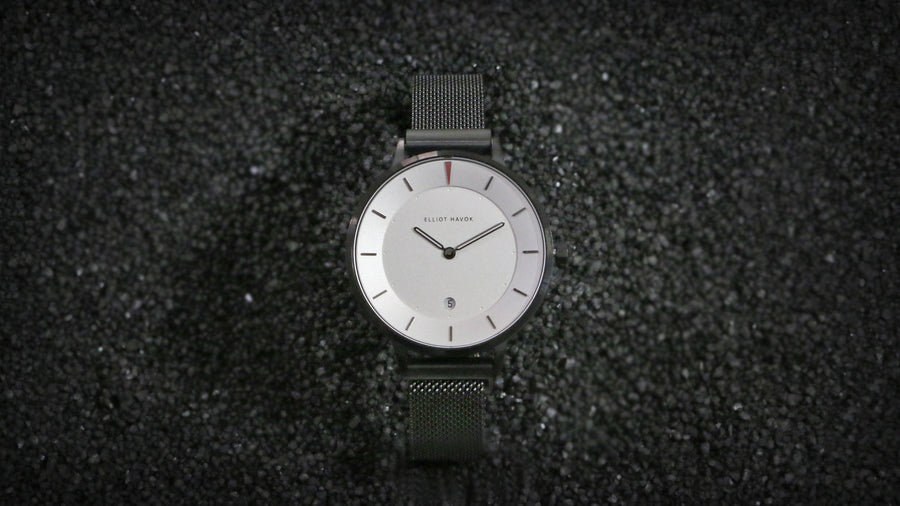 Piano Black Minimalist Mesh 38mm