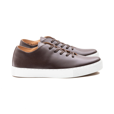 UPTON BROWN CALF LEATHER SNEAKER