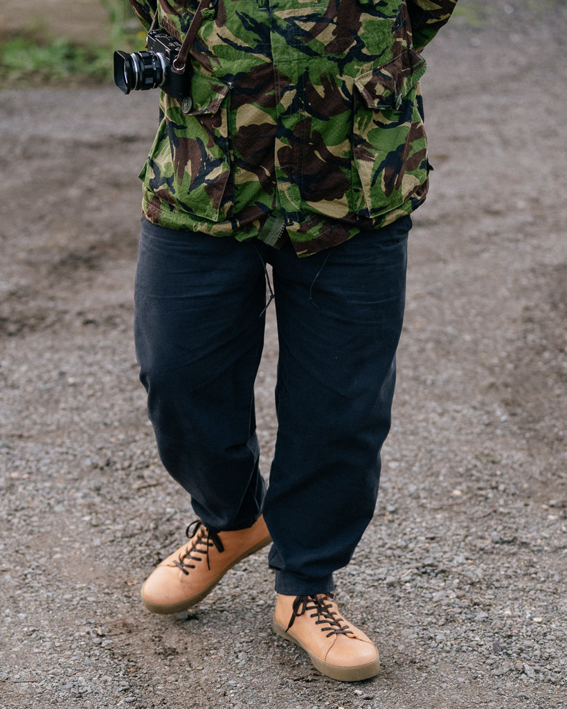 Ben Lloyd wearing the horween chromexcel sneakers boots
