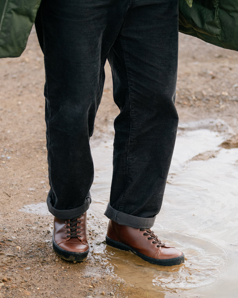 horween chromexcel sneakers boots withstanding water and muddy paths