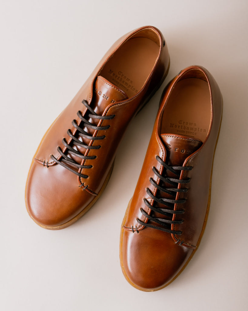 crown northampton hand stitch sneaker collection horween shell cordovan