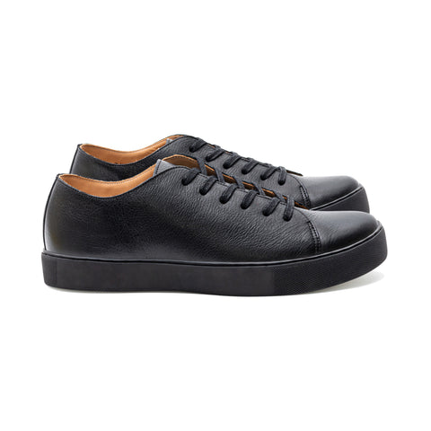 OVERSTONE BLACK KUDU LEATHER SNEAKER