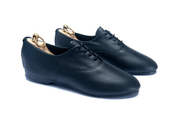 TALBOT OXFORD SHOE - BLACK LEATHER