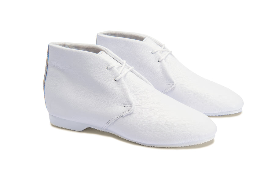 STIMPSON ANKLE BOOT - WHITE LEATHER