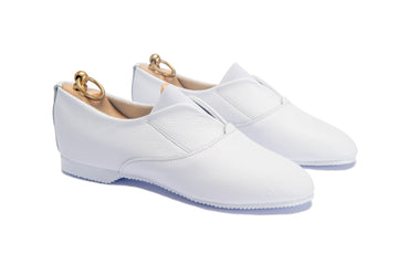 MAGEE V FRONT SHOE - WHITE LEATHER