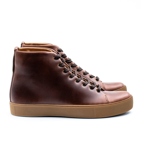Overstone Hi Derby - Horween Brown Chromexcel