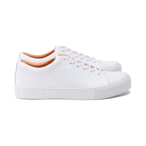 Abington Toe Cap - All White Calf Leather