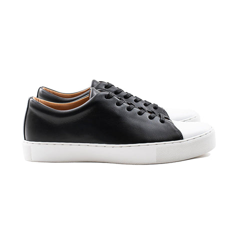 Abington Toe Cap - Black Calf Leather
