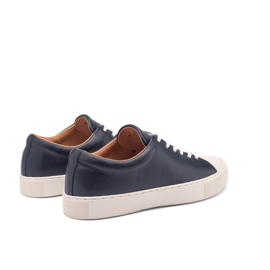 ABINGTON TOE CAP SNEAKER - NAVY WHITE LEATHER