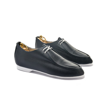 TURNER APRON SHOE - NAVY LEATHER