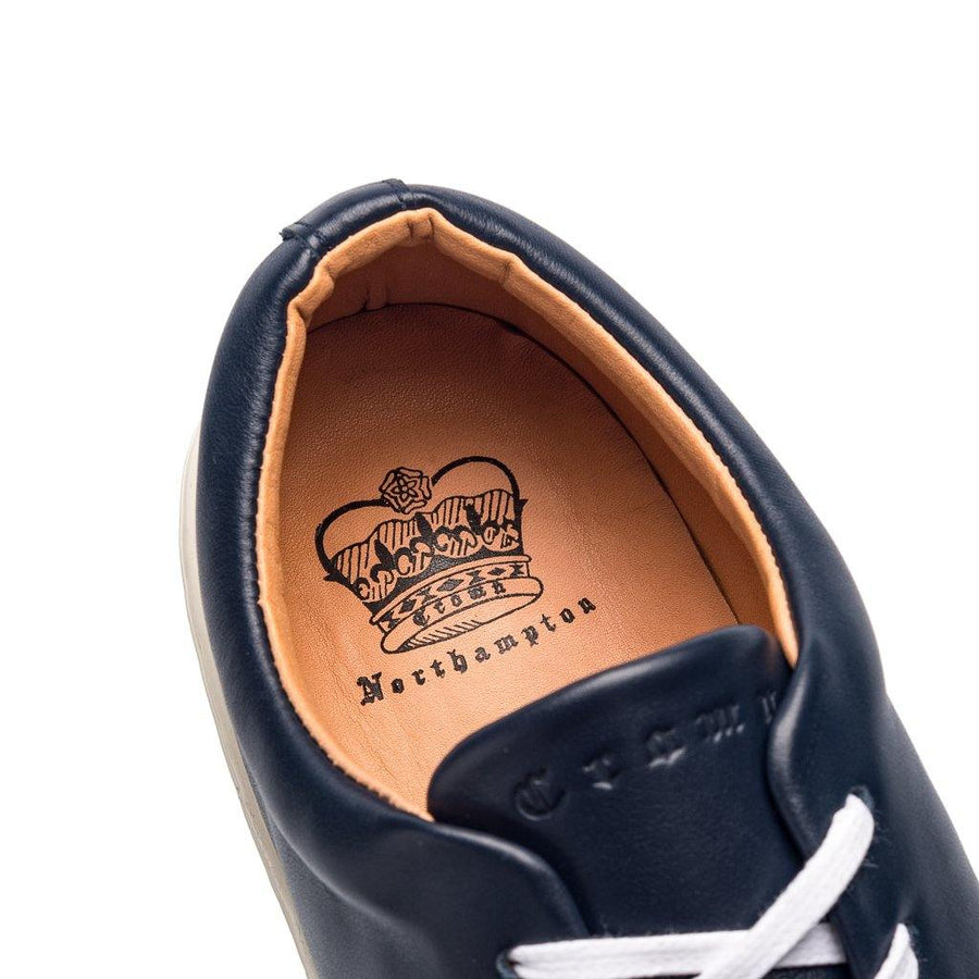 Abington Toe Cap - Navy Leather White