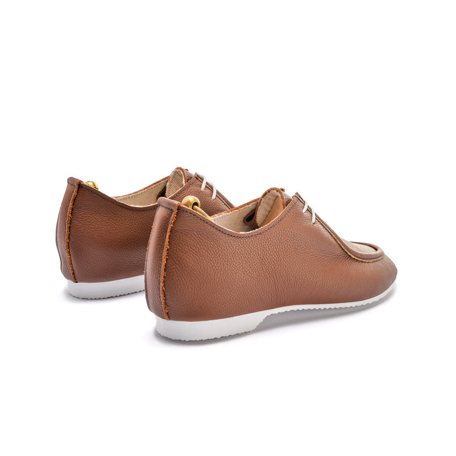 TURNER APRON SHOE - BROWN LEATHER